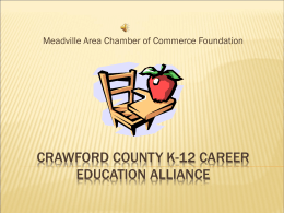 Crawford County K-12 Career Education Alliance
