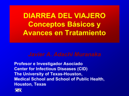 Diarrea del viajero - Dr J. Jesús Fernando Flores López