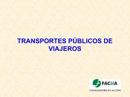 Medios de transporte públicos