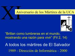 Obtenga presentación en PowerPoint de los Mártires