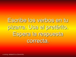 escribe los verbos en tu tabla. espera la - spanish