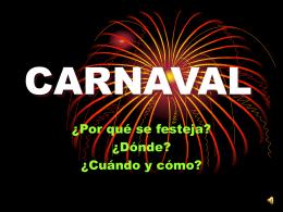 CARNAVAL - Actividades Artísticas
