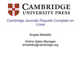 presentación cambridge