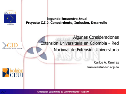 Red Nacional De Extension Universitaria En Colombia