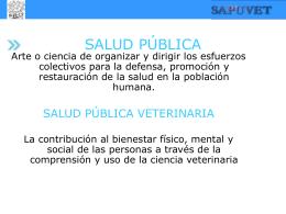 Epidemiología y Medicina Preventiva en Salud Pública Veterinaria