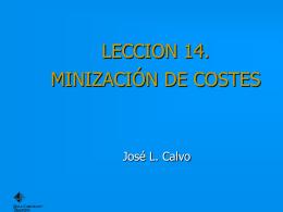 MINIZACIÓN DE COSTES