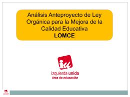 PRESENTACION_ANALISIS_LOMCE_NO