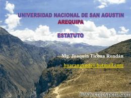 A LOS GANADORES - Universidad Nacional de San Agustin