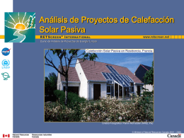 Análisis de Proyectos de Calefacción Solar Pasiva