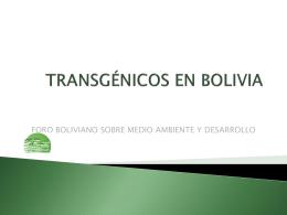 TRANSGENICOS EN BOLIVIA: LUCHAS, DERROTAS Y VICTORIAS