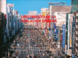 crecimiento de la población urbana