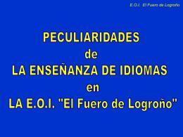 Peculiaridades de la enseñanza de idiomas en la EOI de Logroño