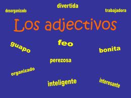 Los adjectivos