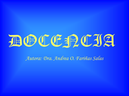 Docencia - Instituciones