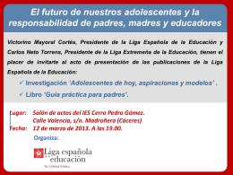 PPT - Liga Española de la Educación