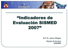 Proceso que mide del SISMED