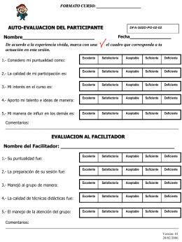 Cuestionario de Evaluación CURSOS