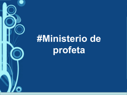 2. #Ministerio de profeta