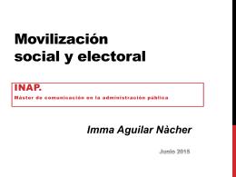 Movilización social y política. INAP. MAdrid