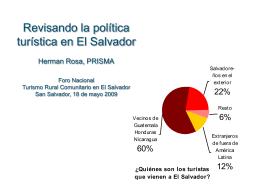 Revisando la política turística en El Salvador