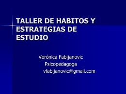 TALLER DE HABITOS Y ESTRATEGIAS DE ESTUDIO