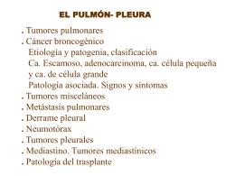 TUMORES PULMONARES - Medikuntzako Ikasleak