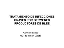 tratamiento de infecciones graves por gérmenes productores de blee