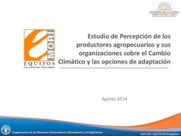 Percepción Productores sobre Cambio Climático