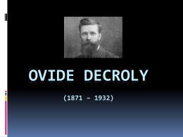 Ovide Decroly - UMG-Metodos-Portafolio