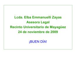 ACOSO LABORAL - Recinto Universitario de Mayagüez