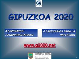 Gipuzkoa 2020: 4 Escenarios para la Reflexión (Presentación)