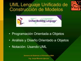 UML - Ing. Jorge Maranto Iglecias