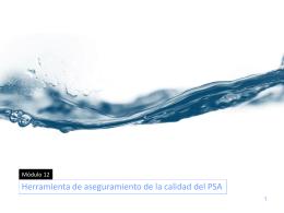 Módulo 12 - Herramienta de aseguramiento de la calidad del PSA