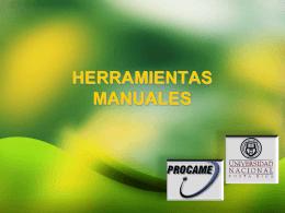 HERRAMIENTAS MANUALES