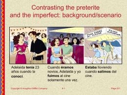 Preterite / Imperfect contrast