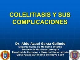 COLELITIASIS Y SUS COMPLICACIONES