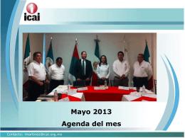 Mayo 2013 Agenda del mes - RESI - Registro Estatal de Solicitudes