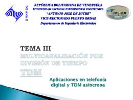 Tema Nº X - Sistemas de Comunicaciones Electrónicas y sus Areas