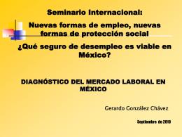 Diagnóstico del Mercado Laboral en México.