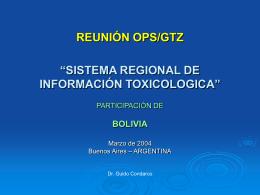 Bolivia. Dr. Guido Condarco