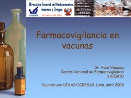 Farmacovigilancia en Vacunas