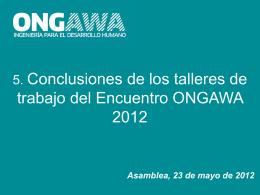 Presentación ISF ApD - ONGAWA Ingeniería para el Desarrollo