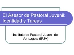 El Asesor de Pastoral Juvenil