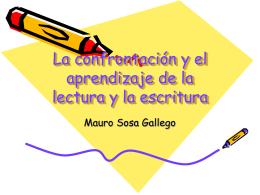 La confrontación y el aprendizaje de la lectura y la escritura