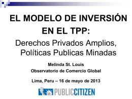 Peru TPP Inversion Lima Foro Publico