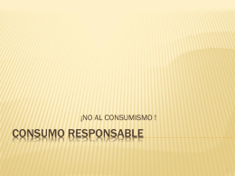 ppt consumo responsable