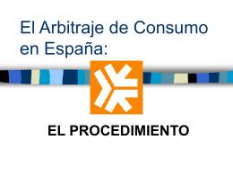 El procedimiento de arbitraje de consumo en España