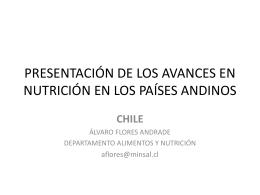 PRESENTACIÓN DE LOS AVANCES EN NUTRICIÓN