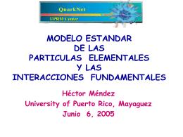 modelo standard de las particulas