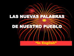 Las nuevas palabras - WagnerDelCastilloFigueroa